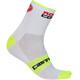 Castelli Rossocorsa 9 Socks Unisex white/yellow fluo